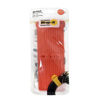 "Self-Gripping Cable Ties - Assorted 20-Pack (4"", 8"")"
