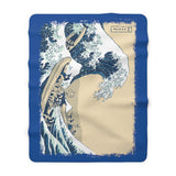 Great Wave Sherpa Fleece Blanket