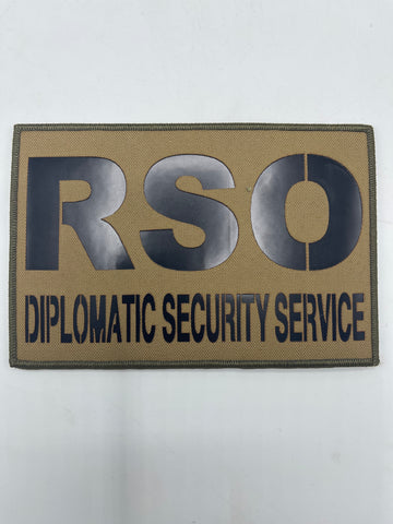 RSO Diplomatic Security Services XL IR Patch