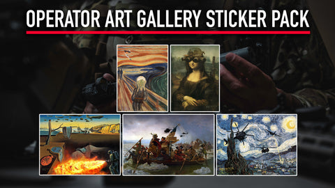 Operator Art Gallery Sticker Pack
