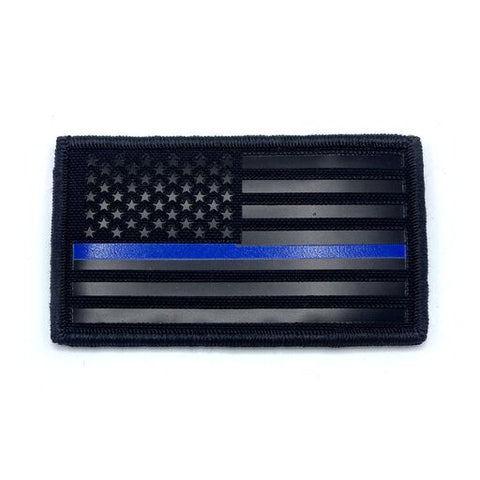 IR Field Patch US Flag Black/Blue Line