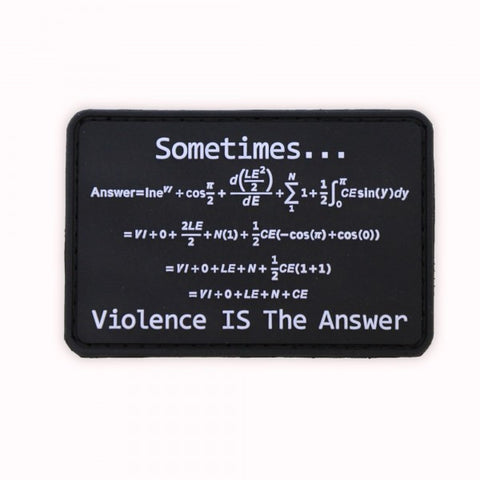 Violence is the Answer PVC Patch