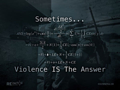 Violence is the Answer Poster