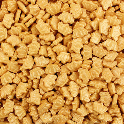PEARLY GOLD CROWN CANDY SPRINKLES 3.75 LB