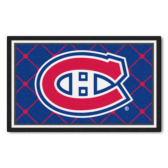 "NHL - Montreal Canadiens 4x6 Rug 44""x71"""