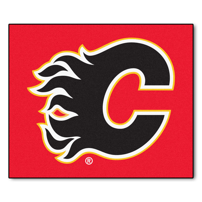 NHL - Calgary Flames Tailgater Rug 5'x6' - Fan Cave Rugs
