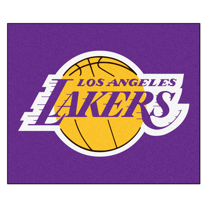 NBA - Los Angeles Lakers Tailgater Rug 5'x6' - Fan Cave Rugs