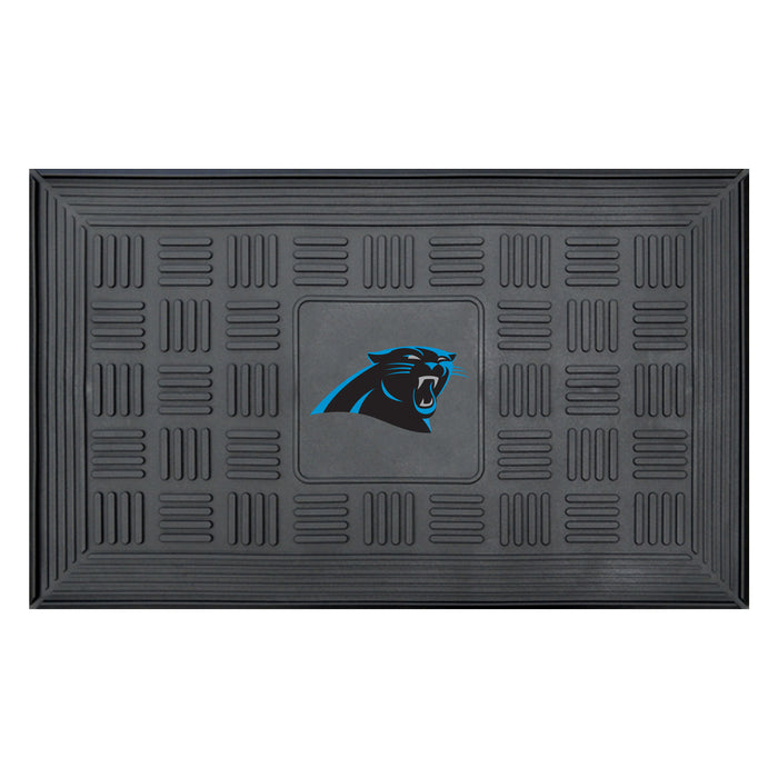 Fan Cave Rugs:Carolina Panthers Medallion Door Mat