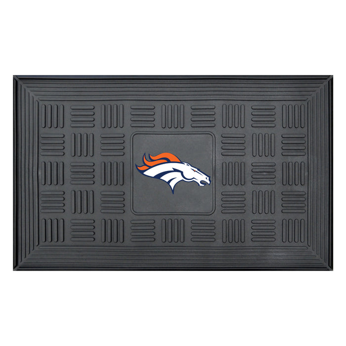 Denver Broncos Medallion Door Mat - Fan Cave Rugs