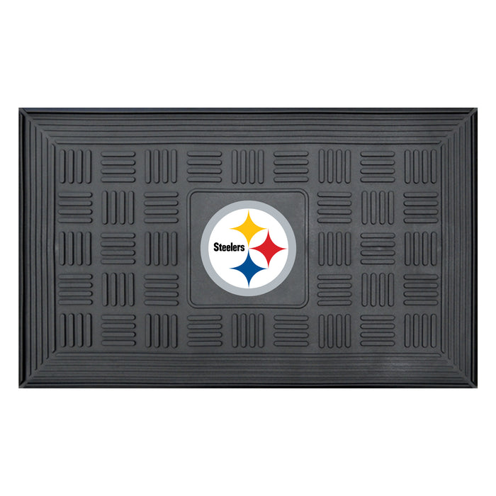 Fan Cave Rugs:Pittsburgh Steelers Medallion Door Mat