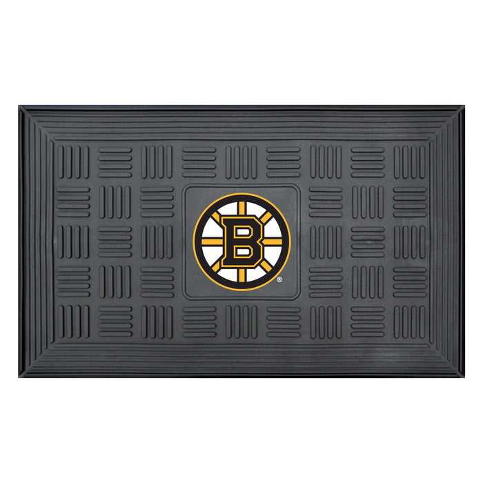 "NHL - Boston Bruins Door Mat 19.5""x31.25"" - Fan Cave Rugs"