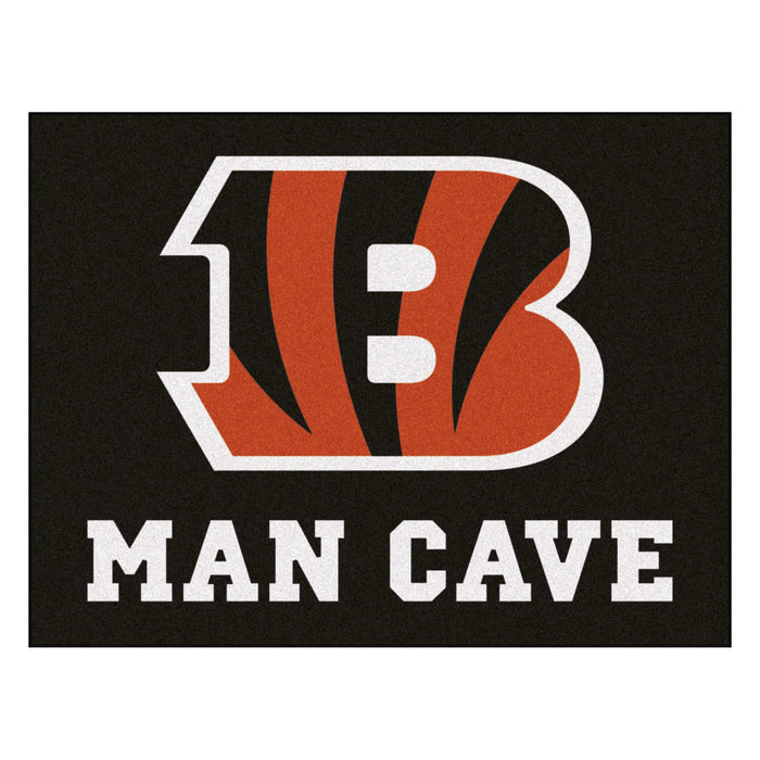 "NFL - Cincinnati Bengals Man Cave All-Star Mat 33.75""x42.5"""