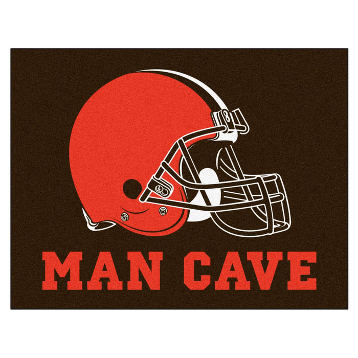 "NFL - Cleveland Browns Man Cave All-Star Mat 33.75""x42.5"""