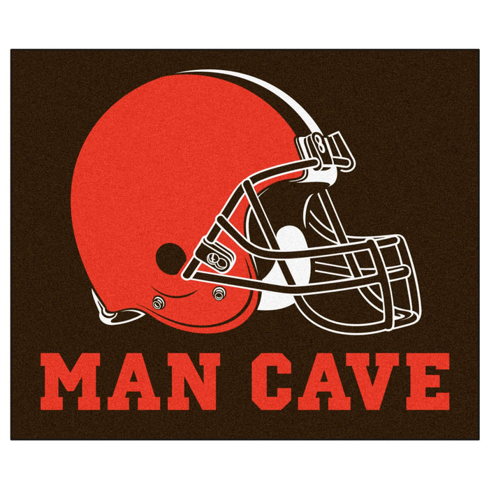 NFL - Cleveland Browns Man Cave Tailgater Rug 5'x6' From Fan Cave Rugs