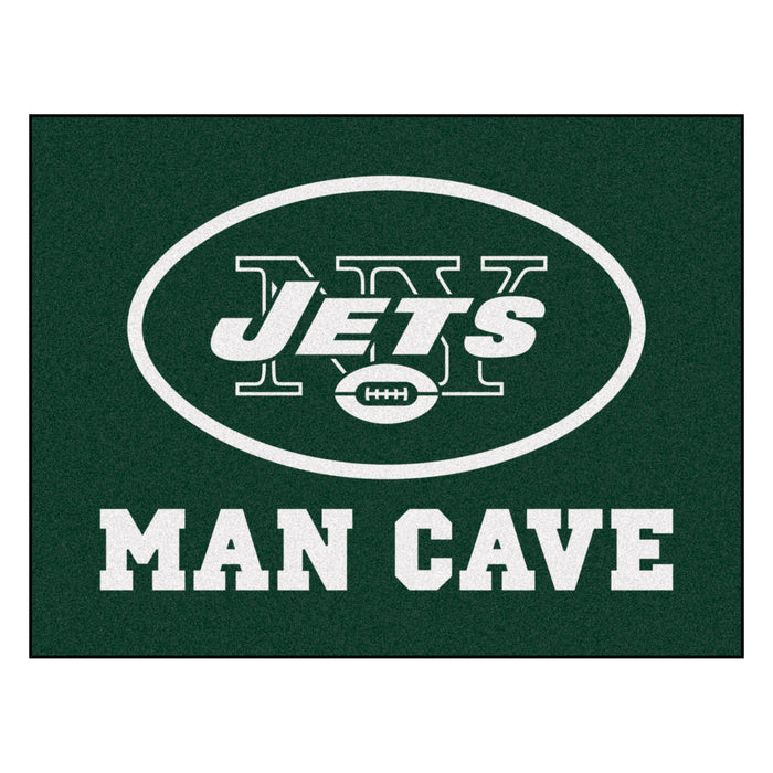 "NFL - New York Jets Man Cave All-Star Mat 33.75""x42.5"" - Fan Cave Rugs"