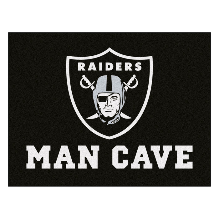 "NFL - Oakland Raiders Man Cave All-Star Mat 33.75""x42.5"""
