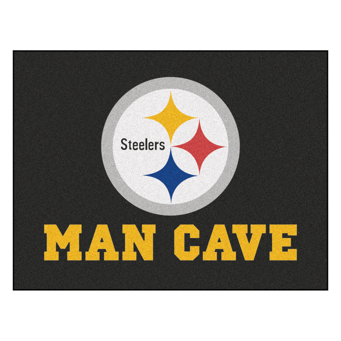 "NFL - Pittsburgh Steelers Man Cave All-Star Mat 33.75""x42.5"" - Fan Cave Rugs"
