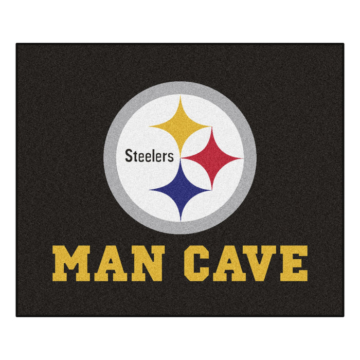 NFL - Pittsburgh Steelers Man Cave Tailgater Rug 5'x6' - Fan Cave Rugs