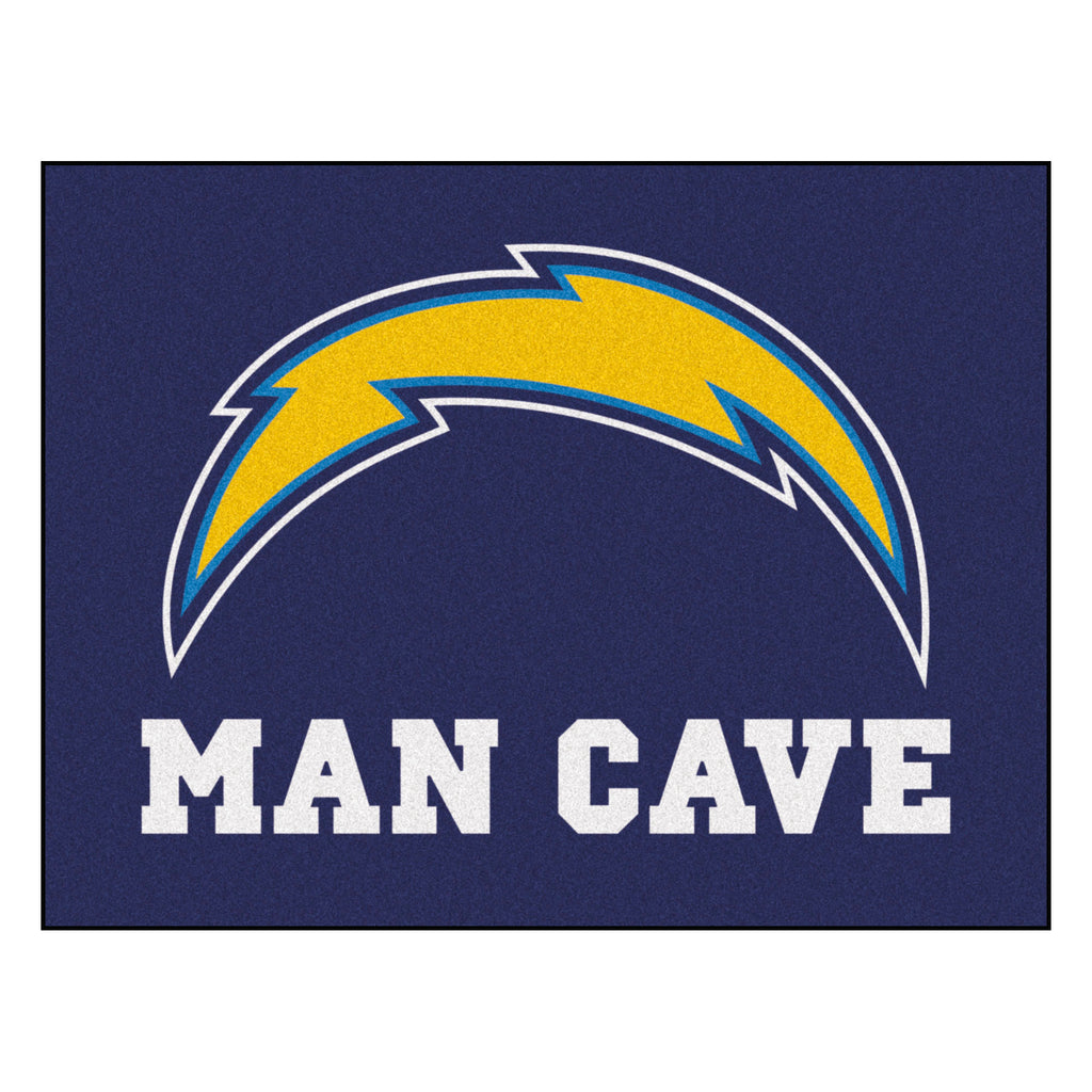 "NFL - Los Angeles Chargers Man Cave All-Star Mat 33.75""x42.5"""