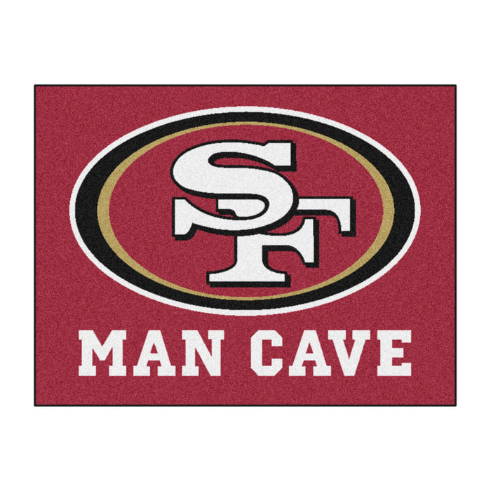 "NFL - San Francisco 49ers Man Cave All-Star Mat 33.75""x42.5"" - Fan Cave Rugs"