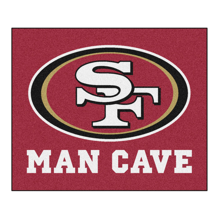NFL - San Francisco 49ers Man Cave Tailgater Rug 5'x6' - Fan Cave Rugs