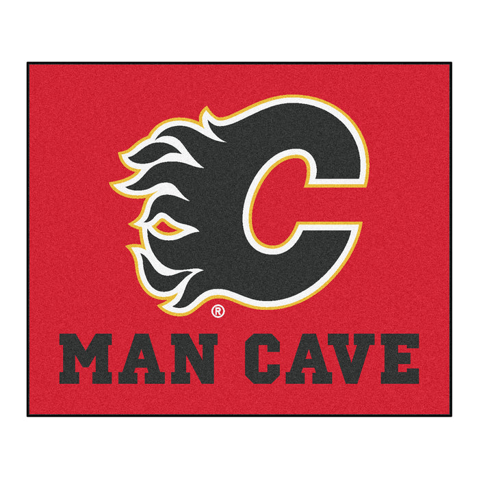 NHL - Calgary Flames Man Cave Tailgater Rug 5'x6' - Fan Cave Rugs