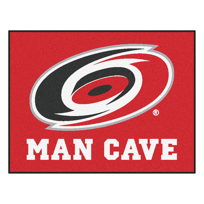 "NHL - Carolina Hurricanes Man Cave All-Star Mat 33.75""x42.5"" - Fan Cave Rugs"