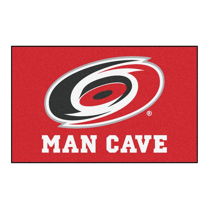 NHL - Carolina Hurricanes Man Cave UltiMat 5'x8' Rug - Fan Cave Rugs