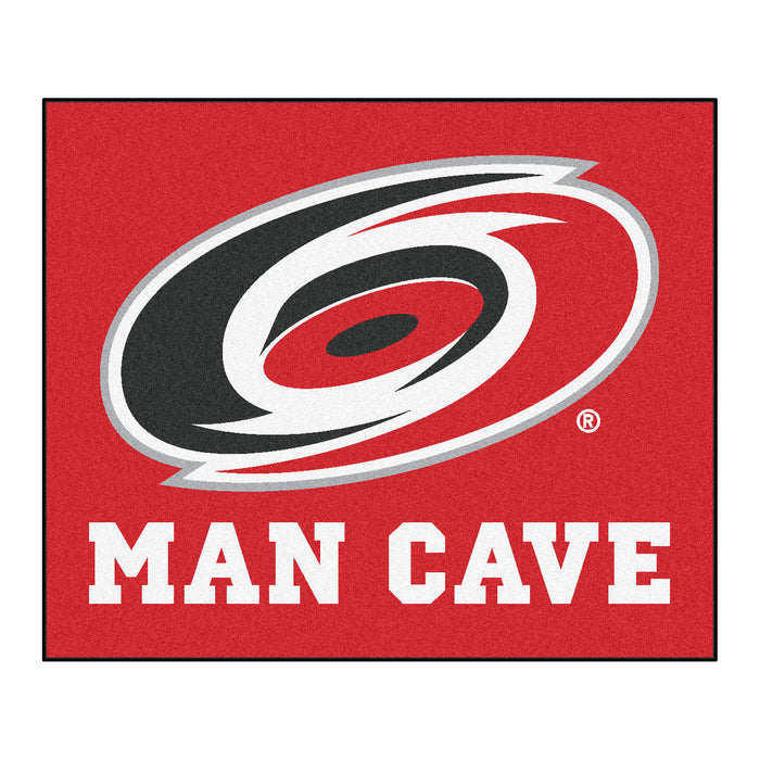 NHL - Carolina Hurricanes Man Cave Tailgater Rug 5'x6' - Fan Cave Rugs