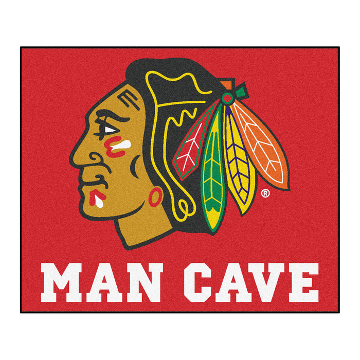 NHL - Chicago Blackhawks Man Cave Tailgater Rug 5'x6' - Fan Cave Rugs