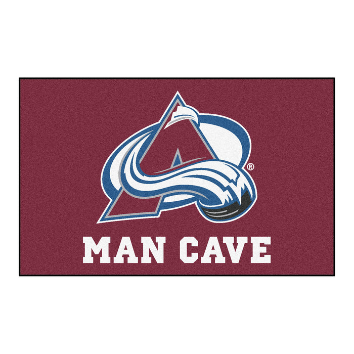 NHL - Colorado Avalanche Man Cave UltiMat 5'x8' Rug - Fan Cave Rugs