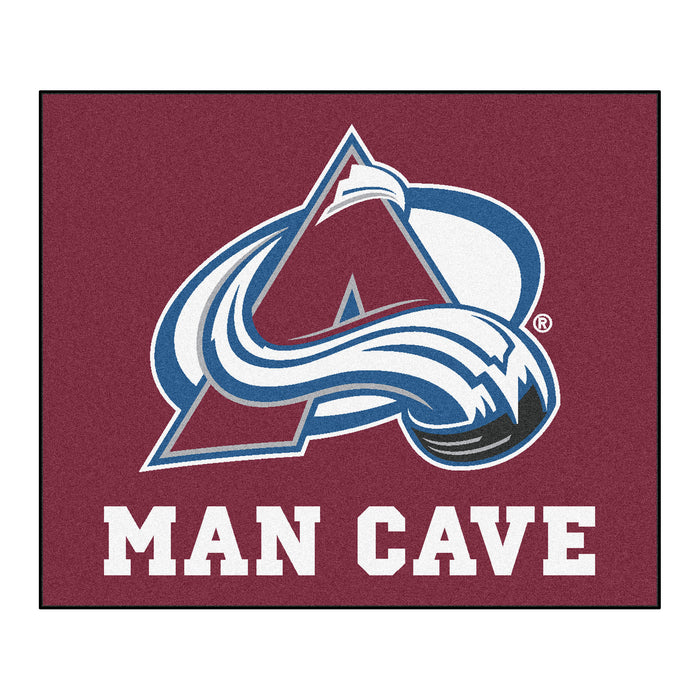 NHL - Colorado Avalanche Man Cave Tailgater Rug 5'x6' - Fan Cave Rugs