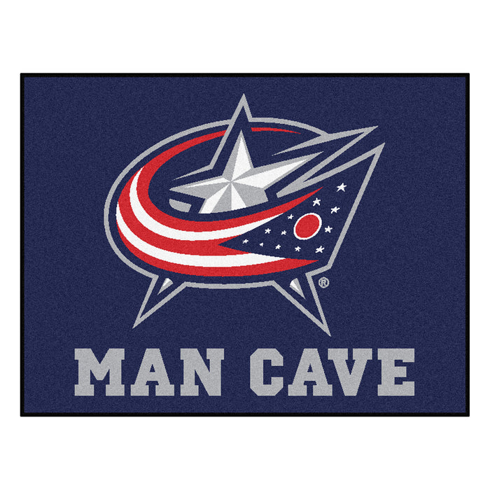 "NHL - Columbus Blue Jackets Man Cave All-Star Mat 33.75""x42.5"" - Fan Cave Rugs"