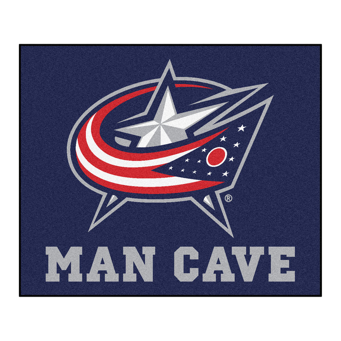 NHL - Columbus Blue Jackets Man Cave Tailgater Rug 5'x6' - Fan Cave Rugs