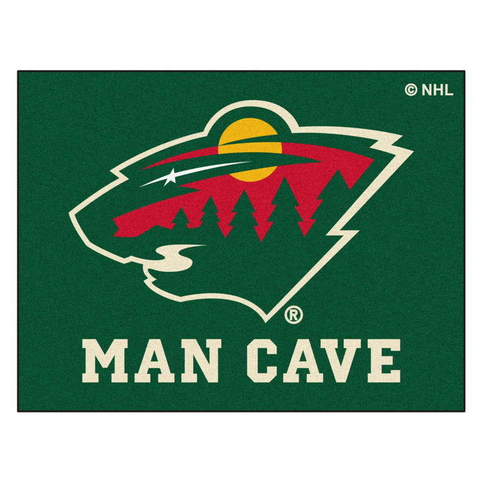 "NHL - Minnesota Wild Man Cave All-Star Mat 33.75""x42.5"""