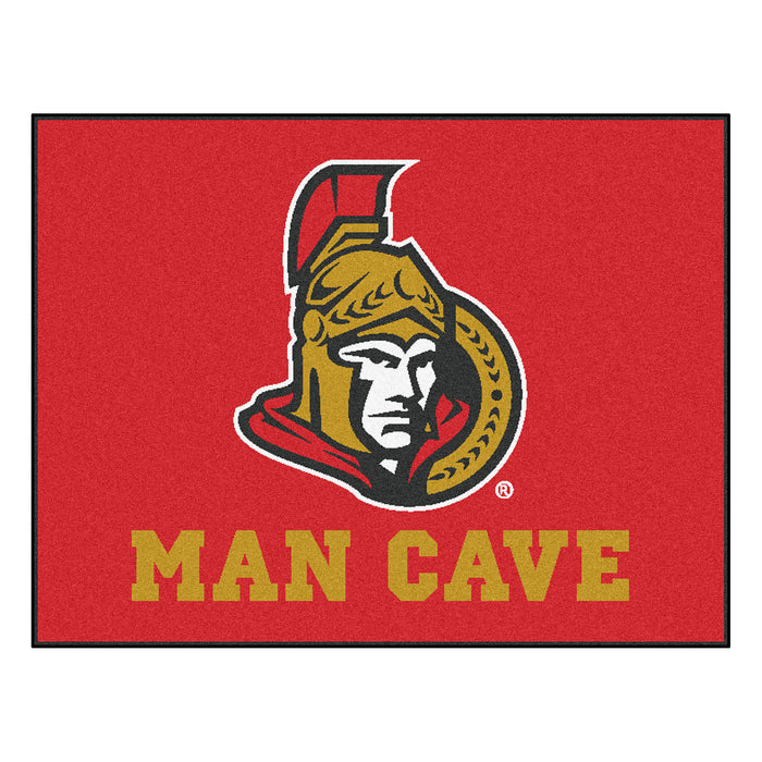 "NHL - Ottawa Senators Man Cave All-Star Mat 33.75""x42.5"""