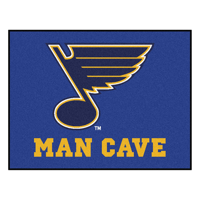 "NHL - St. Louis Blues Man Cave All-Star Mat 33.75""x42.5"""