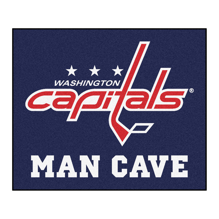 NHL - Washington Capitals Man Cave Tailgater Rug 5'x6' - Fan Cave Rugs