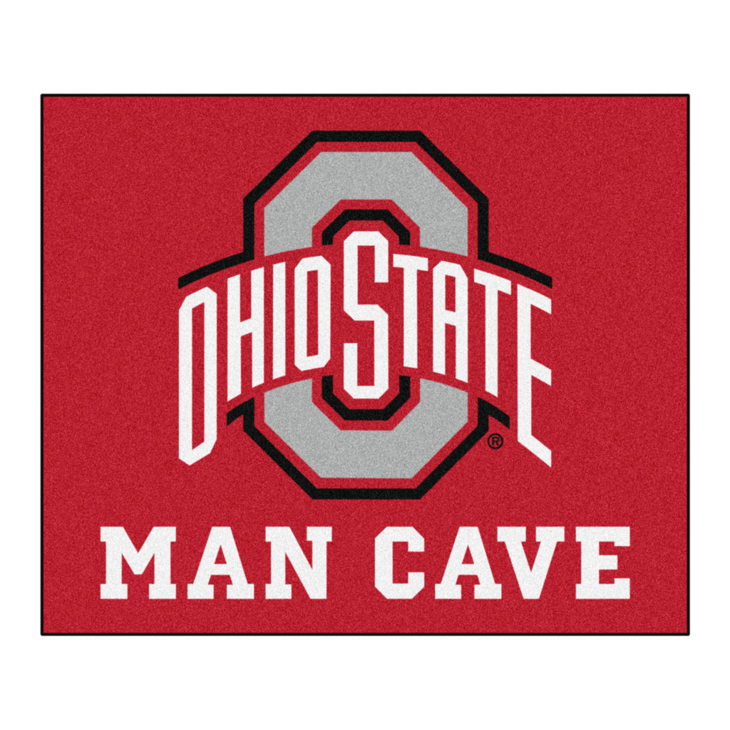 Ohio State Man Cave Tailgater Rug 5'x6'