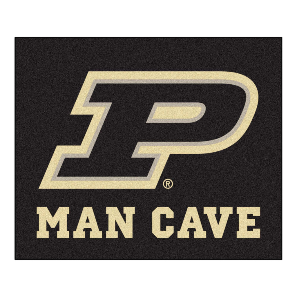 Purdue 'P' Man Cave Tailgater Rug 5'x6'