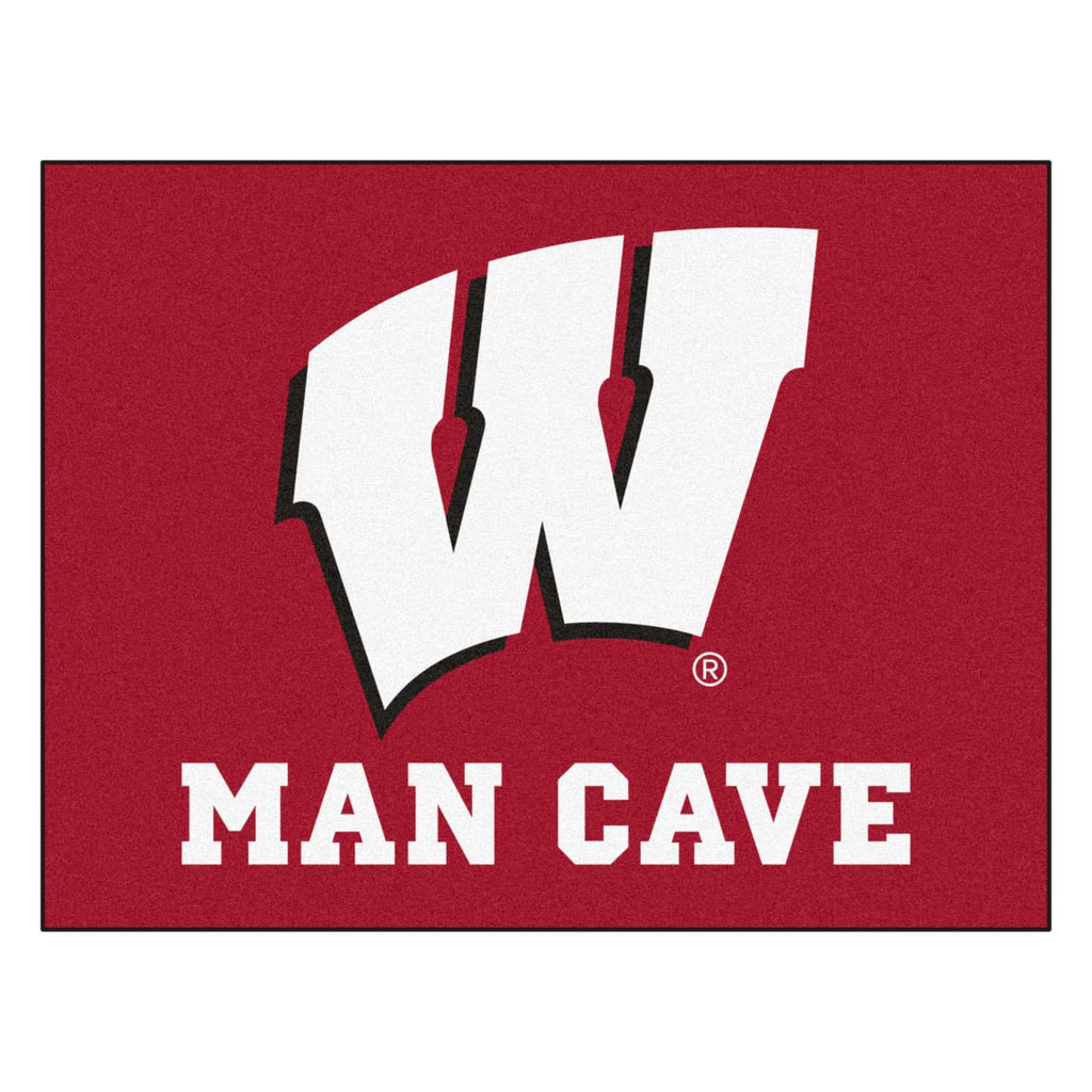 "Wisconsin Man Cave All-Star Mat 33.75""x42.5"""
