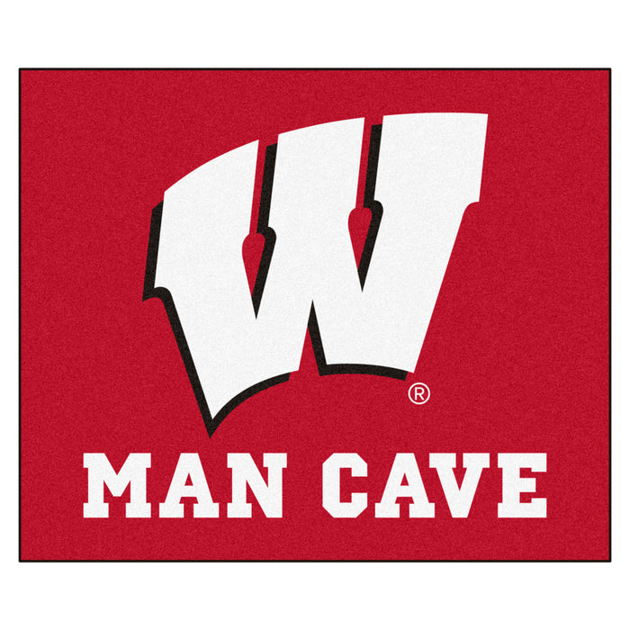 Wisconsin Man Cave Tailgater Rug 5'x6'