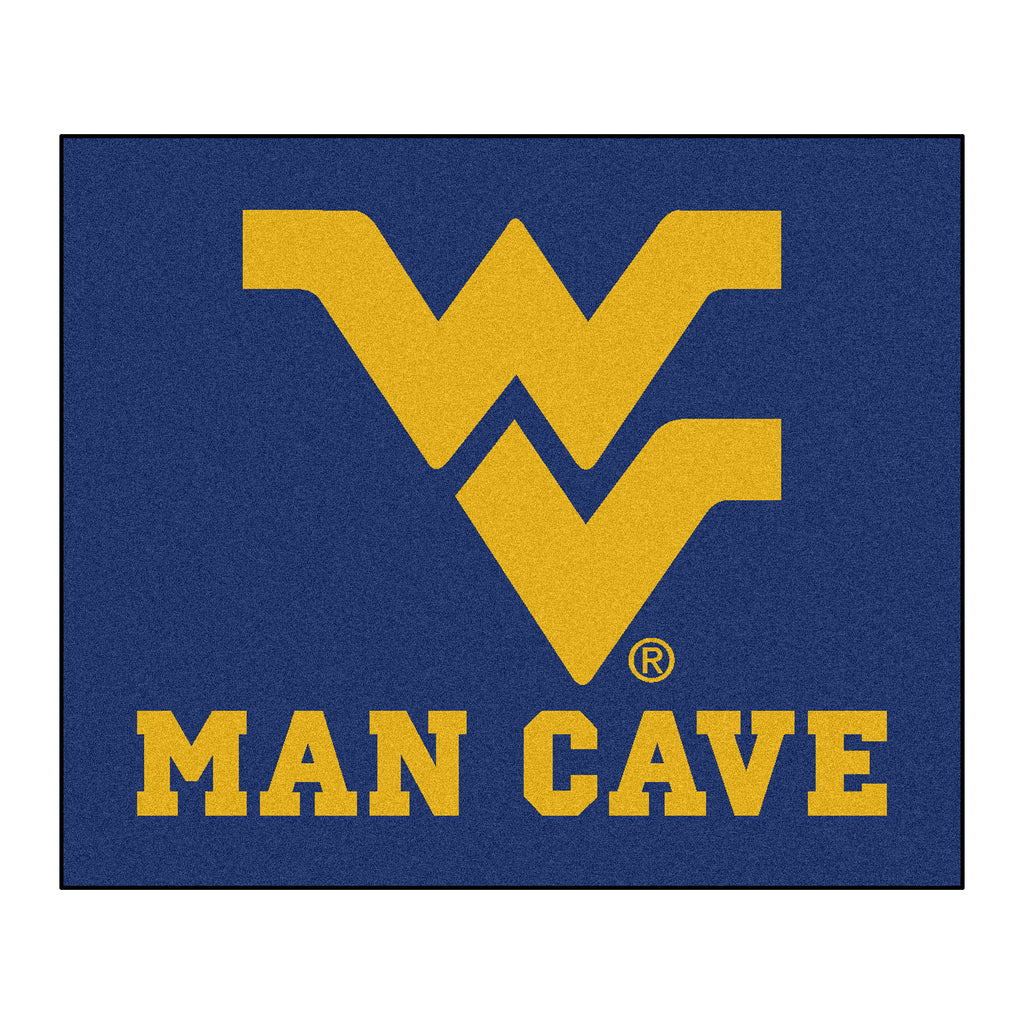 West Virginia Man Cave Tailgater Rug 5'x6'