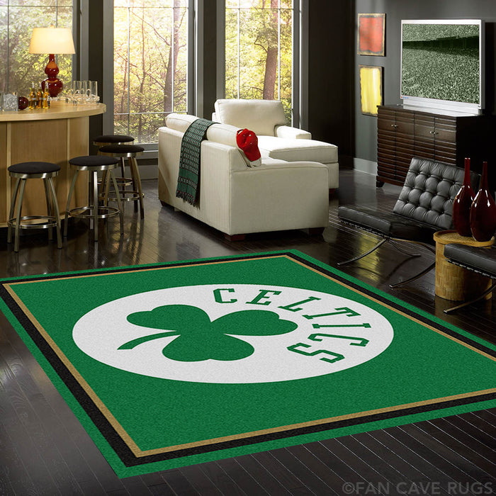 NBA - Boston Celtics Rug  8'x10' - Fan Cave Rugs