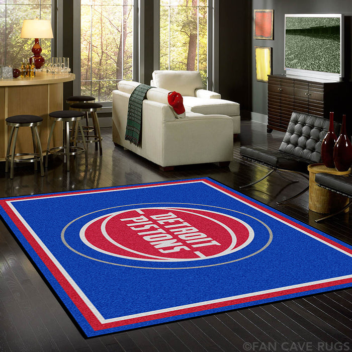 NBA - Detroit Pistons Rug  8'x10' - Fan Cave Rugs