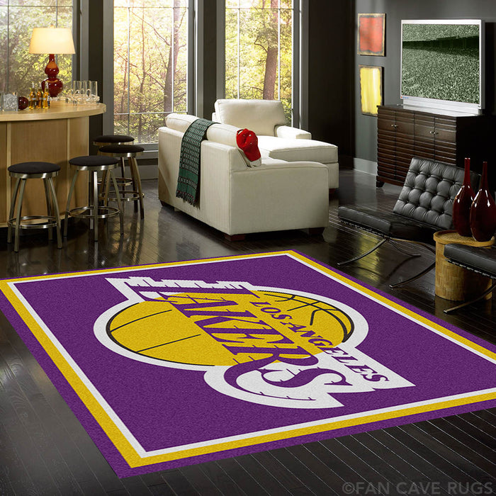 NBA - Los Angeles Lakers Rug  8'x10' - Fan Cave Rugs
