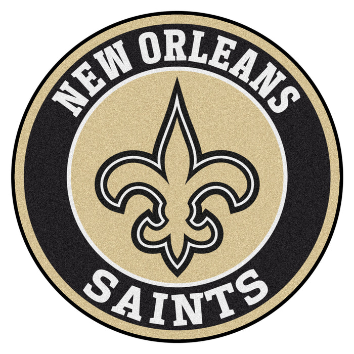 "NFL - New Orleans Saints Roundel Mat 27"" diameter - Fan Cave Rugs"