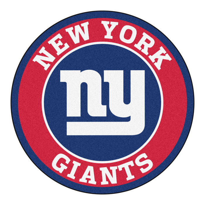 "NFL - New York Giants Roundel Mat 27"" diameter - Fan Cave Rugs"
