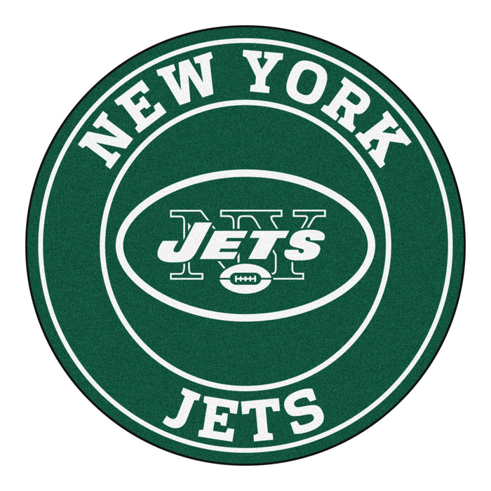 "NFL - New York Jets Roundel Mat 27"" diameter - Fan Cave Rugs"