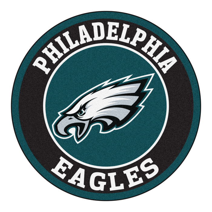 "NFL - Philadelphia Eagles Roundel Mat 27"" diameter - Fan Cave Rugs"